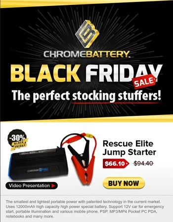 Black Friday - Holiday Savings!