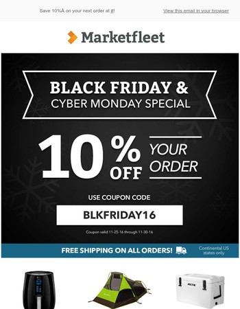 Black Friday & Cyber Monday Special!