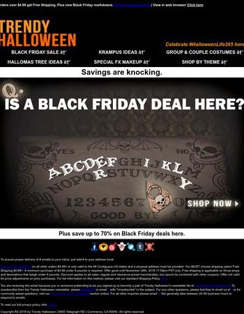 Eerie-sistible Black Friday Sale