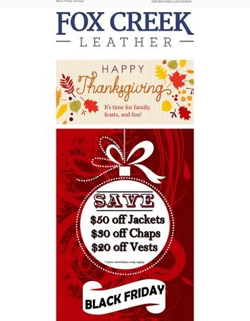 Happy Thanksgiving! Save BIG inside!