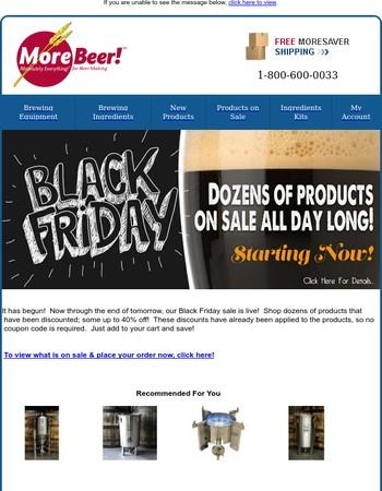 Black Friday Starts Now: Dozens Of Items On Sale!