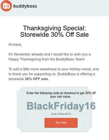 Big Savings This Black Friday: 30% Off All Products