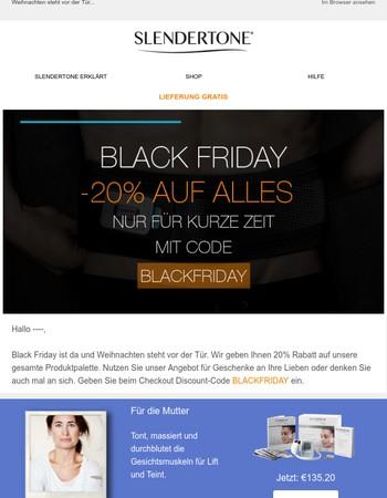 Black Friday Sales: 20% Rabatt auf Alles!