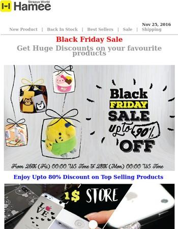 Ultimate Black Friday Sale : Get Upto 80% OFF