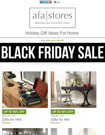 Black Friday Blowout On Furniture And Home Decor