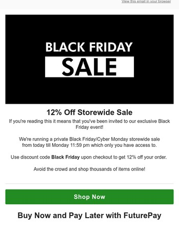 Private Black Friday Sale