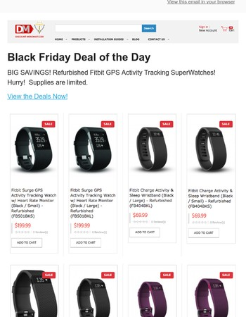 On Sale Now!  Fitbit Superwatches!