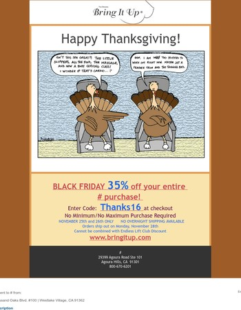 35% off FRIDAY AND SATURDAY ONLY