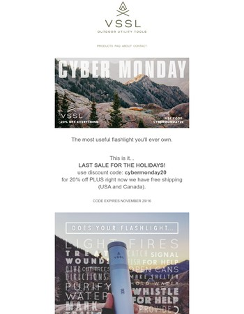 VSSL - Cyber Monday last chance...