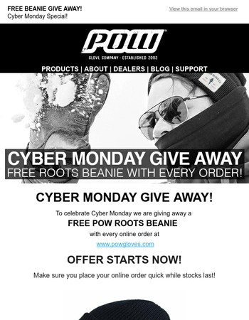 POW Cyber Monday Give Away! STARTS NOW!