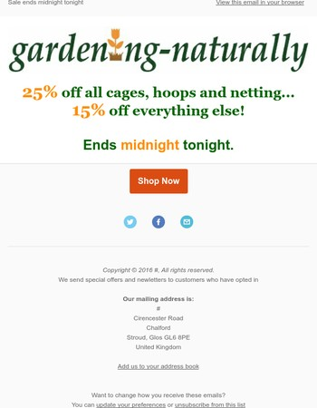 Gardening-Naturally Newsletter