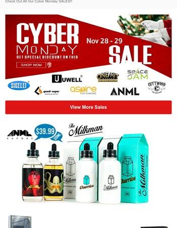 Cyber Monday Huge Savings!