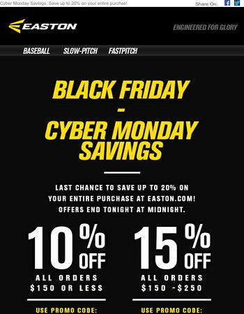 Last chance to take advantage of Cyber Monday savings!