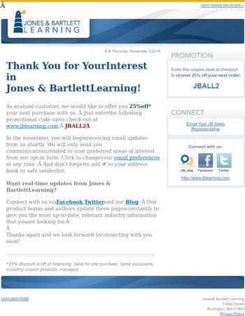Welcome to Jones & Bartlett Learning