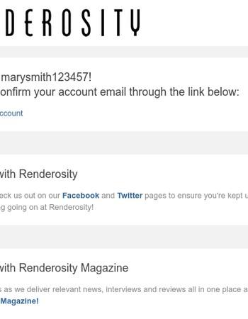 Renderosity Membership Confirmation