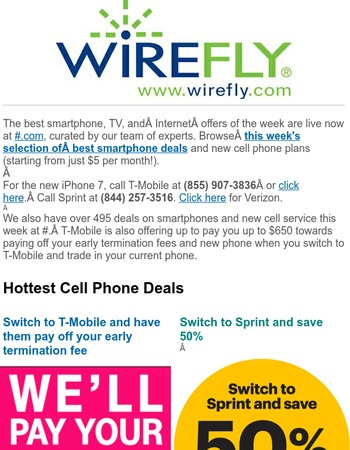 Wirefly coupon code sprint