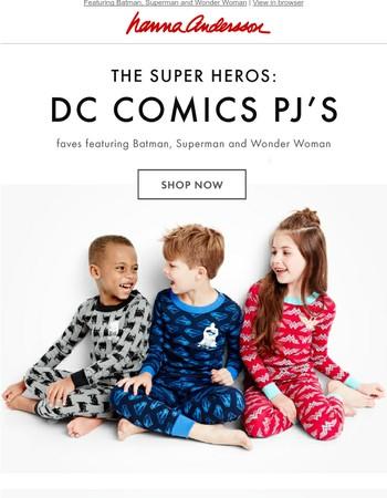 POW! WHOOSH! Super hero sleepwear is in.
