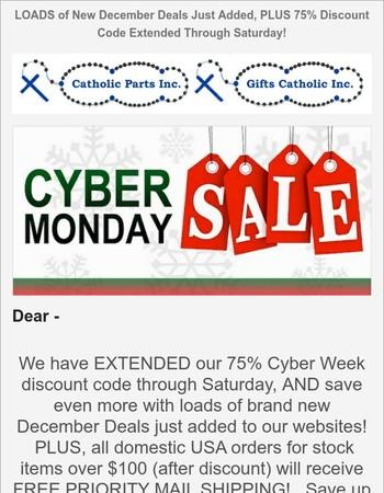 NEW December Deals + Cyber Week Discounts Extended!