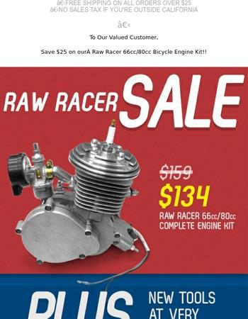 Raw Racer 66cc/80cc Bicycle Engine Kit on Sale!