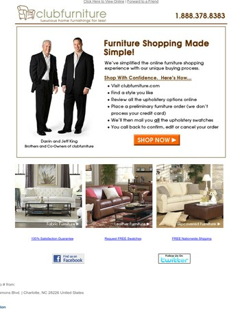 Why Ordering From Club Furniture Is Different!