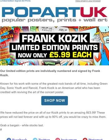 Frank Kozik Prints - Now Only £5.99