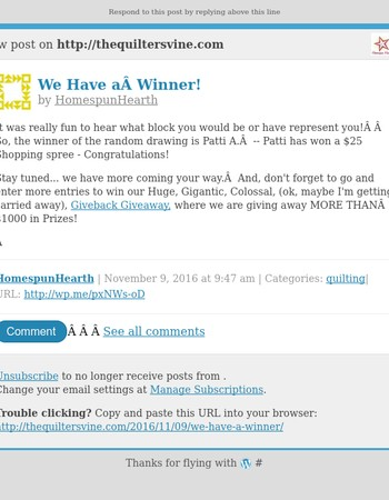[New post] We Have a Winner!