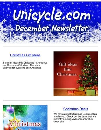 Unicycle.com (UK) Newsletter December