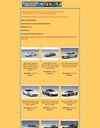 Autoart Closeout & New Arrivals & Coupon