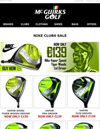 Nike Golf &  TaylorMade Clubs Sale