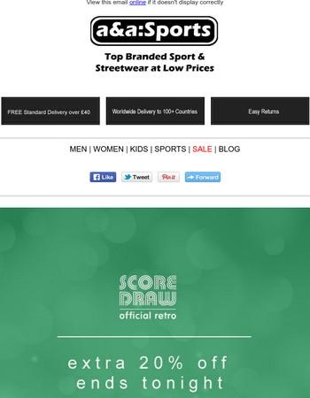 FLASH SALE - 20% OFF Score Draw Retro Football Shirts
