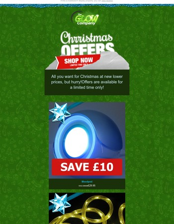 Don't miss all you want for Christmas at super low prices!