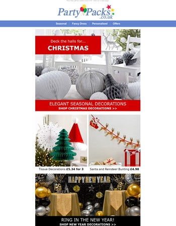 Elegant Christmas and New Year Party Decorations