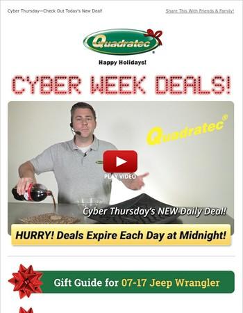 Cyber Thursday—Big Savings on Floor Liners!