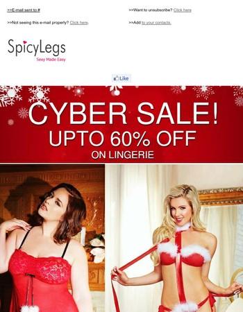 Red Hot Lingerie Sale! Upto 60% off on Lingerie.