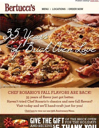 Nolio and Marengo Pizzas are back!