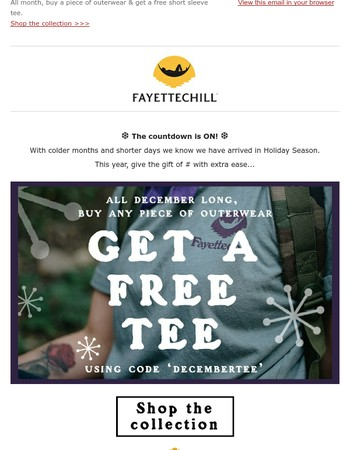 It's Free Tee December!