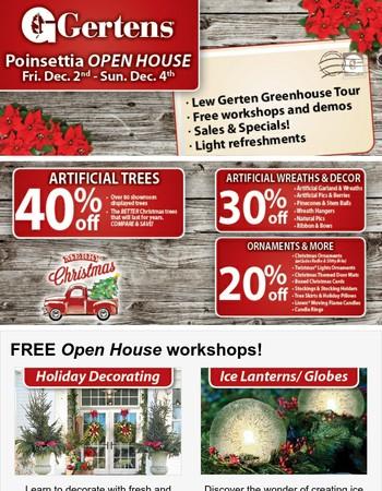 Poinsettia Open House