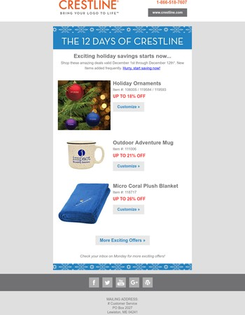 It's Happening: 12 Days of Crestline Starts NOW!