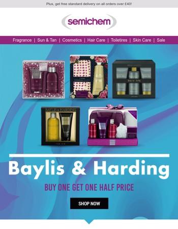 Buy 1 Get 1 Half Price on Baylis & Harding