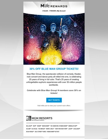 Let's celebrate 25 years of Blue Man Group!