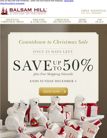 Countdown to Christmas | Save up to 50%
