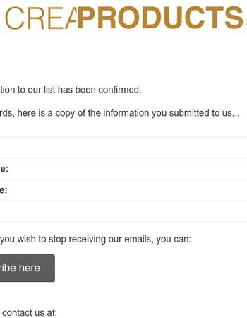 CreaClip Customers: Subscription Confirmed