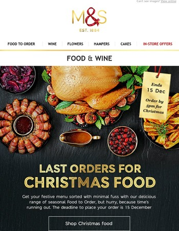 Your Christmas countdown has begun - just 5 days left to order!