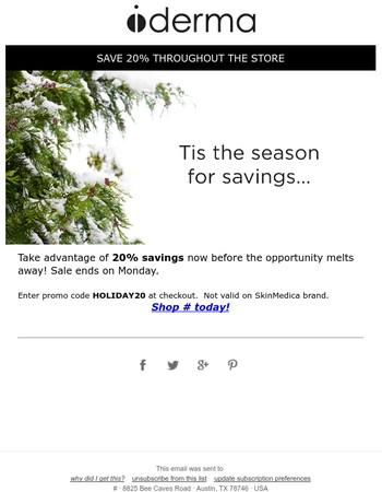 Final Days for 20% Savings