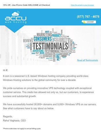 See Why AccuWeb Hosting Has So Many Happy Customers