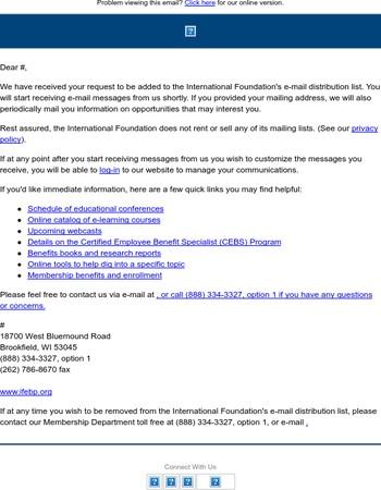 International Foundation Email Signup