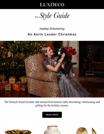 Holiday Entertaining: An Aerin Lauder Christmas