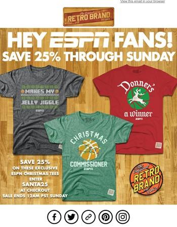 Celebrate the NBA on ESPN with Retro Brand!