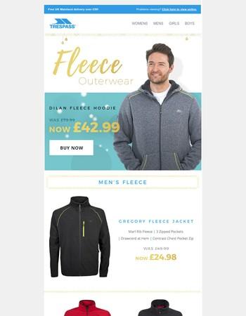 Big Savings On Our Fleece Outerwear!