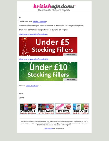 Last Minute Sexy Stocking Fillers